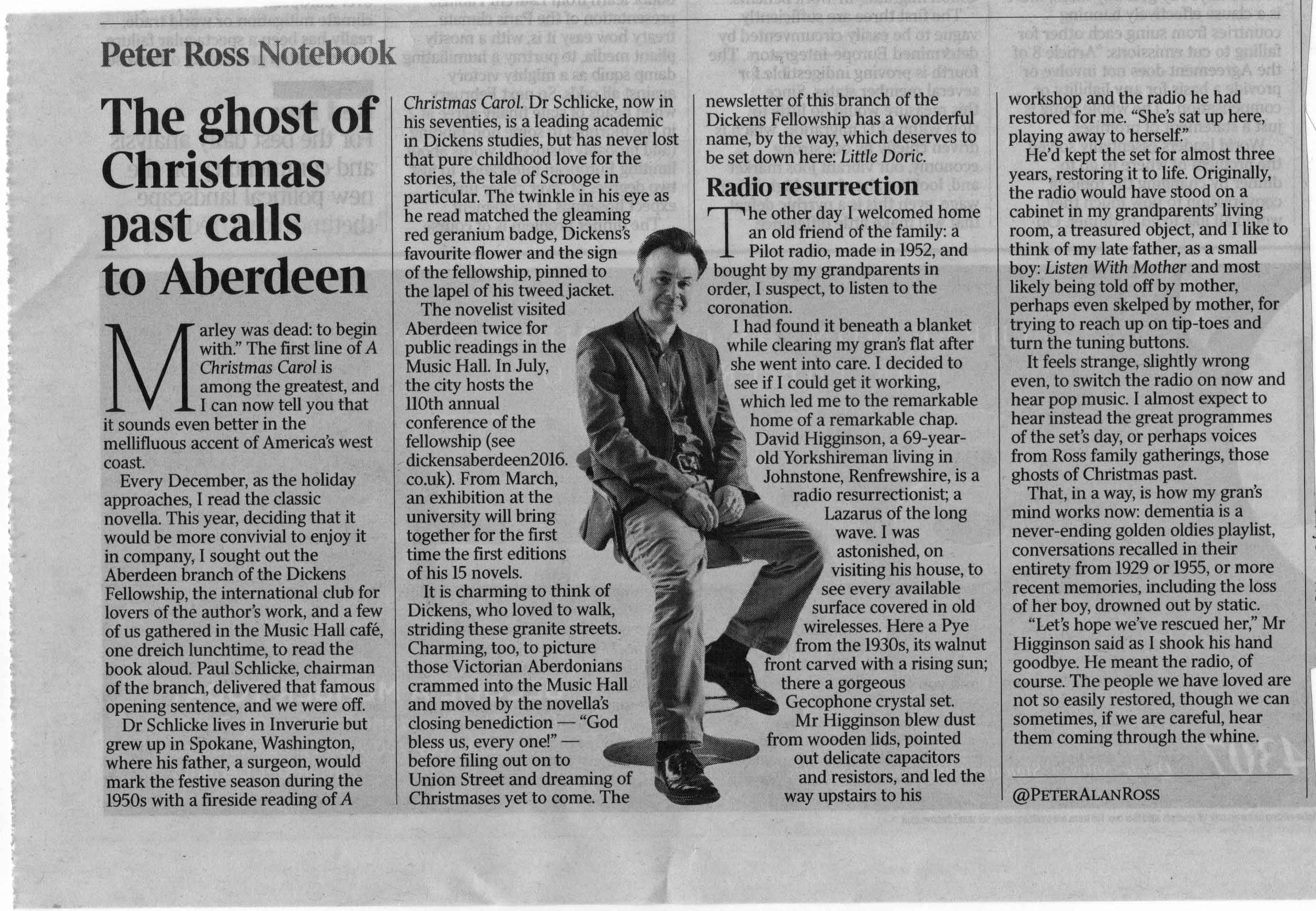 ABERDEEN BRANCH CHRISTMAS READING REPORTED IN 'THE TIMES' | The